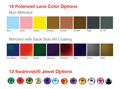 Chemistrie Lens Colors and Jewel Options