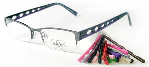 Eyeglass Frames Changeable Arms : Bulova INTERCAHNGEABLE Frames