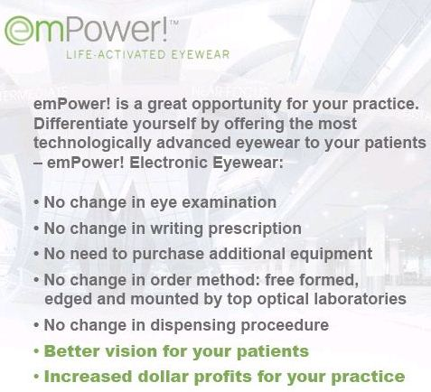 emPower Electronic Glasses Keep Same Prescription