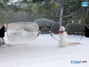 Crizal Lenses with Snow